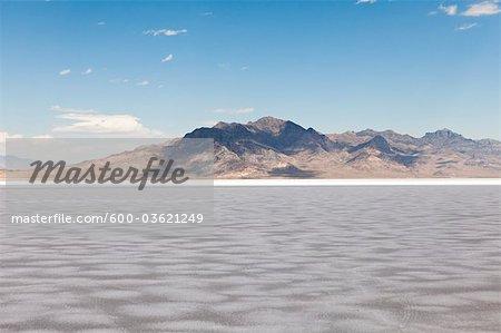 Sel plat, West Wendover, comté d'Elko, Nevada, USA