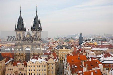 Dom Blick vom alten Rathaus, Bohemia, Prag