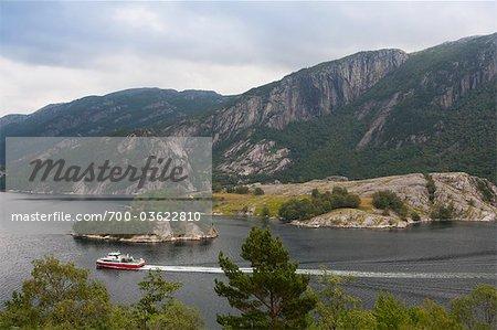 Szenische Ansicht, Lysefjorden, Rogaland, Norwegen