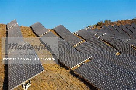 Solaranlage, Lucainena de Las Torres, Provinz Almeria, Andalusien, Spanien