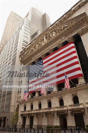 La bourse de New York le 4 juillet, Wall Street, Manhattan, New York City, New York, États-Unis