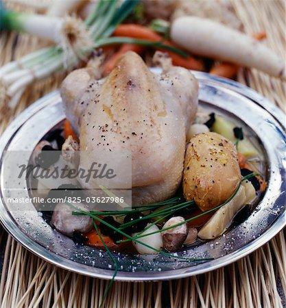 La Poule au Pot with truffles