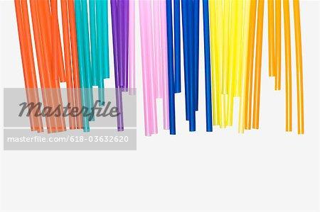 La paille longue de sept couleurs de couleurs