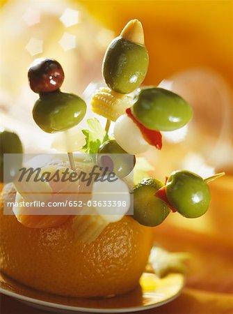 Brochettes apéritif olive