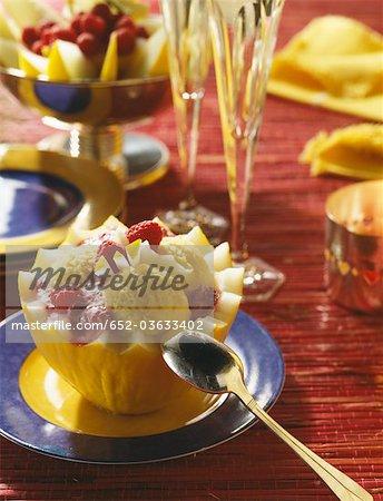 Dessert de melon d'eau fantaisie