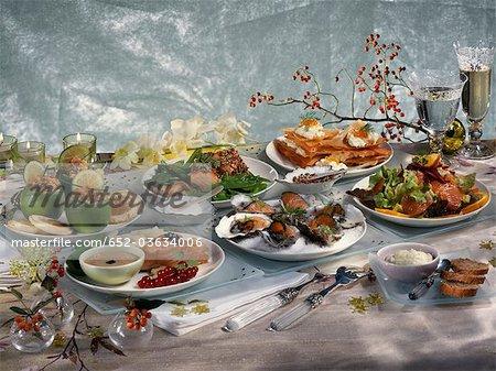 Salmon Christmas menu