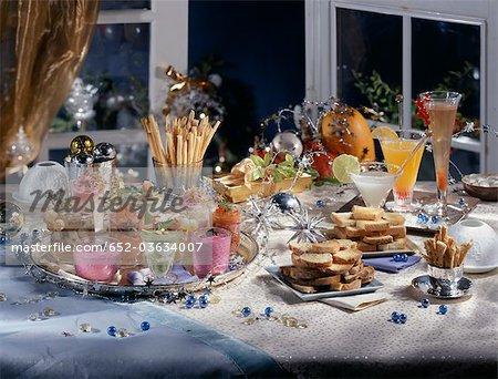 Christmas aperitif buffet