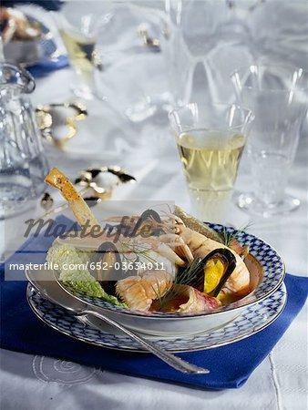 Fish soup with shellfish