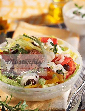 Lamb salad with feta