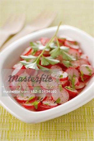 Pink radish salad