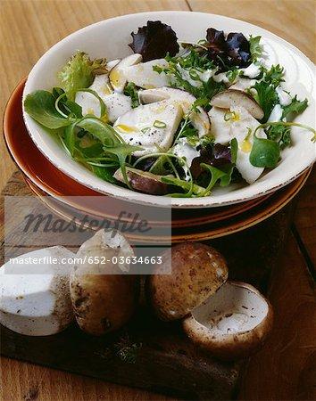Warm cep salad