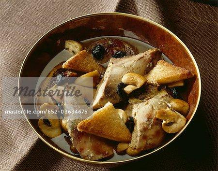 Traditional pheasant Salmis