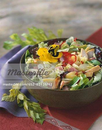 Zwei Fleisch-Salat und Gemüse