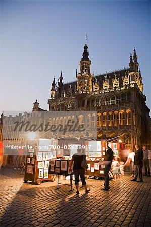 Maison du Roi at Night, Grand Place, Brussels, Belgium