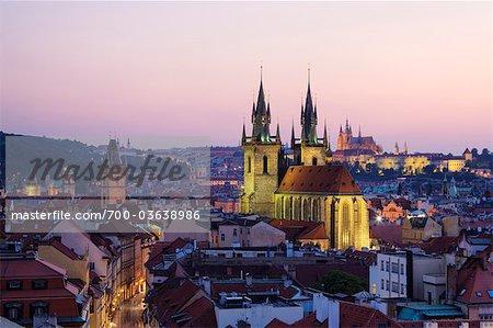 Tyn Church, Old Town, Prague, Czech Republic