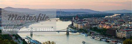 Chain Bridge, River Danube, Budapest, Hungary