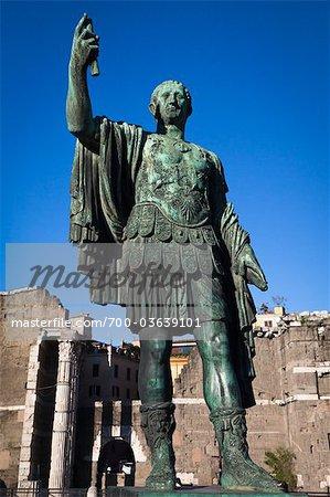 Statue of Julius Caeser, The Forum, Rome, Italy