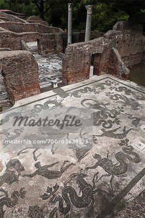 Mosaic Floor, Ostia Antica, Ancient Rome, Rome, Lazio, Italy