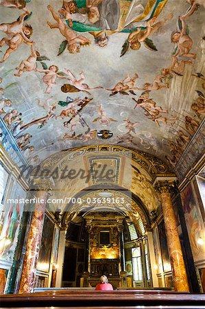 Chapelle dédiée à notre Dame de la clémence et St Anicetus, Palazzo Altemps, Museo Nazionale Romano, Rome, Italie