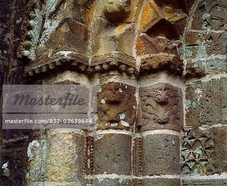 Kilmore Cathedral, Kilmore, Co Cavan, Ireland; Romanesque Medieval Doorway Detail Believed To Have Been Originally From Trinity Island