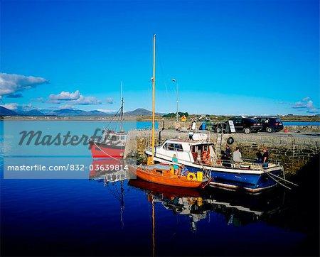 Port de Roundstone, Connemara, Co. Galway, Irlande