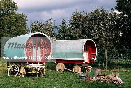 Bunratty Folk Park, Bunratty, Co Clare, Ireland; Traditional Caravans
