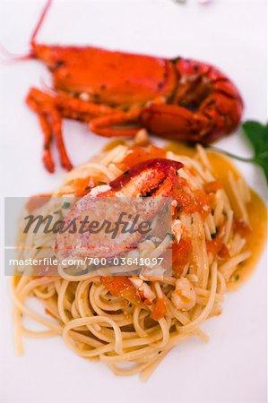 Lobster  Linguine, Positano, Campania, Italy