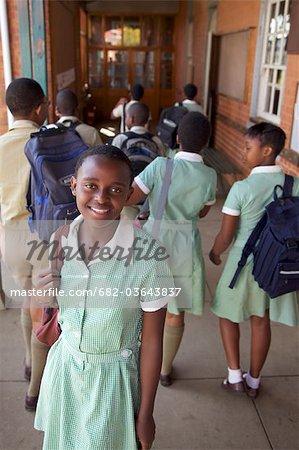 Young schoolgirl smiling, KwaZulu Natal Province, South Africa