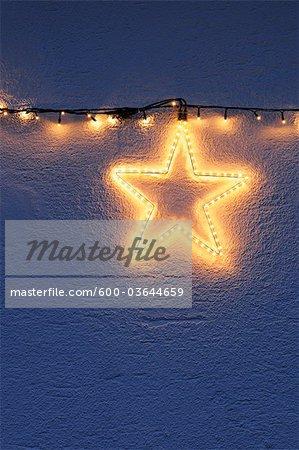 Sternförmige Christmas Light, Bayern, Deutschland