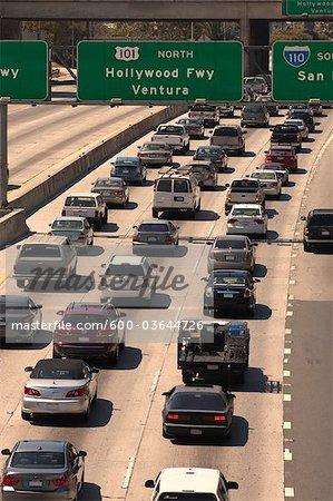 Verkehr auf Autobahn, Los Angeles, Kalifornien, USA