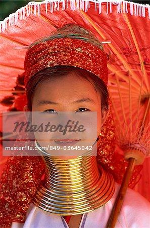 Thaïlande, Chiang Rai, Long cou Karen Hilltribe Long cou Girl