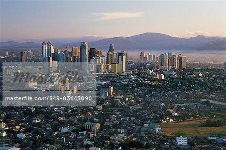 Philippines, Manille, Pasig City Business zone Skyline