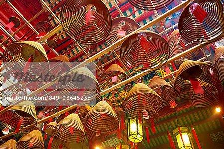 China,Hong Kong,Hollywood Road,Incense Coils in Man Mo Temple