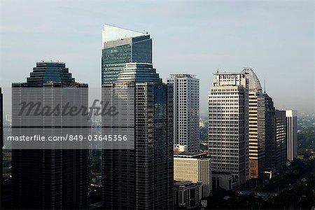Gratte-ciel le long de Jalan Jend Sudirman, Jakarta