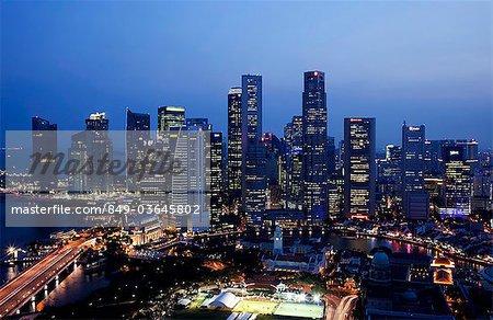 Singapore,City Skyline of CBD at night