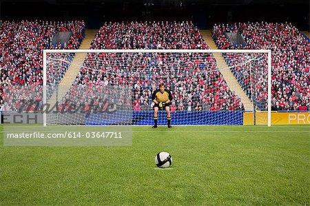Torhüter und Fußball
