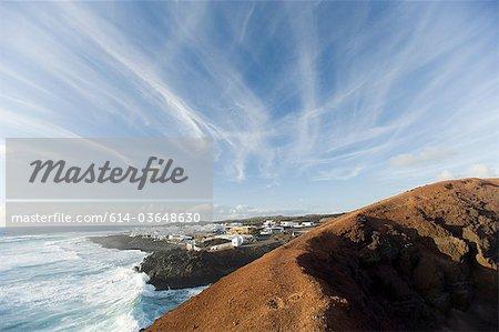 El Golfo and volcanic mountain, Lanzarote