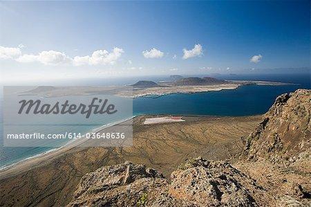 View from Mirador del Rio towards Graciosa, Lanzarote