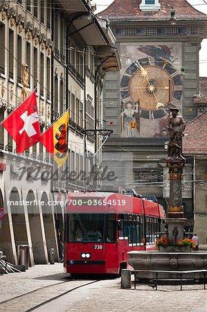 Tramway à Berne, Suisse