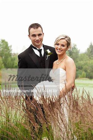 Portrait de mariés, Club de Golf Eagles Nest, Vaughan, Ontario, Canada