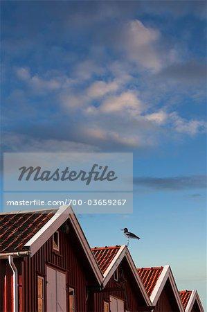Holzhäuser, Smoegen, Bohuslän, Schweden