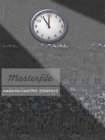 Horloge sur le mur