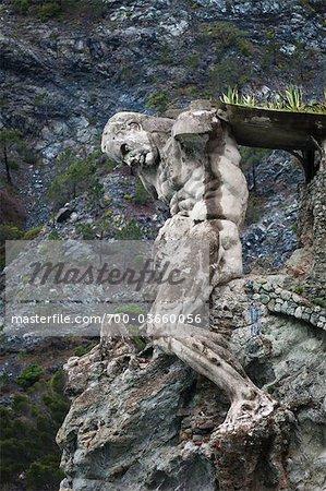 Giant Statue of Neptune, Fegina Beach, Monterosso al Mare, Cinque Terre, Province of La Spezia, Ligurian Coast, Italy
