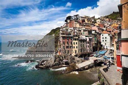 Riomaggiore, Cinque Terre, Province de La Spezia, côte ligure, Italie