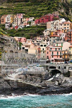 Manarola, Riomaggiore, Cinque Terre, Province of La Spezia, Ligurian Coast, Italy