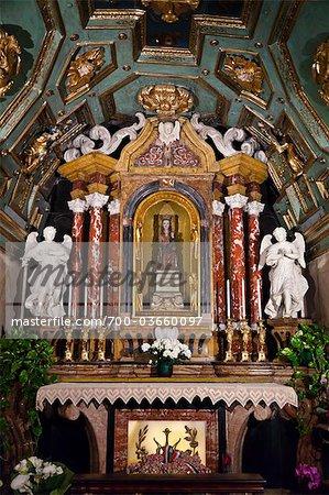 Madone et enfant, Sacro Monte di Crea, Serralunga di Crea, Province d'Alessandria, Piémont, Italie
