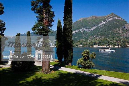 Jardins de la Villa Melzi, Bellagio, lac de Côme, la Province de Côme, Lombardie, Italie