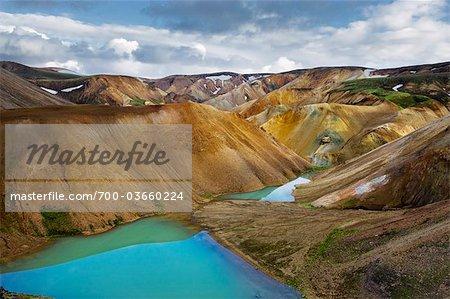 Chaîne de montagnes, Landmannalaugar, Islande
