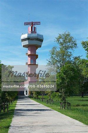 Tour de Radar météorologique, Ubon Ratchathani Airport, Ubon Ratchatani, Province d'Ubon Ratchathani, Thaïlande