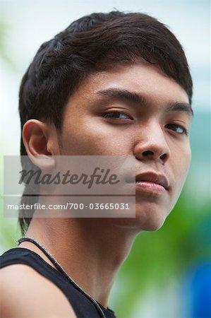 Portrait of Teenager, Bangkok, Thailand
